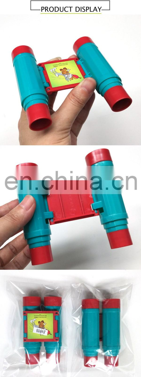 sedex audit factory plastic toy binoculars kids plastic telescope toy mini toy telescope