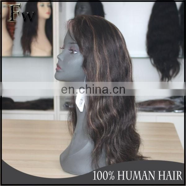 Aliexpress human hair wigs brazilian human hair full lace wig with baby hair for black women