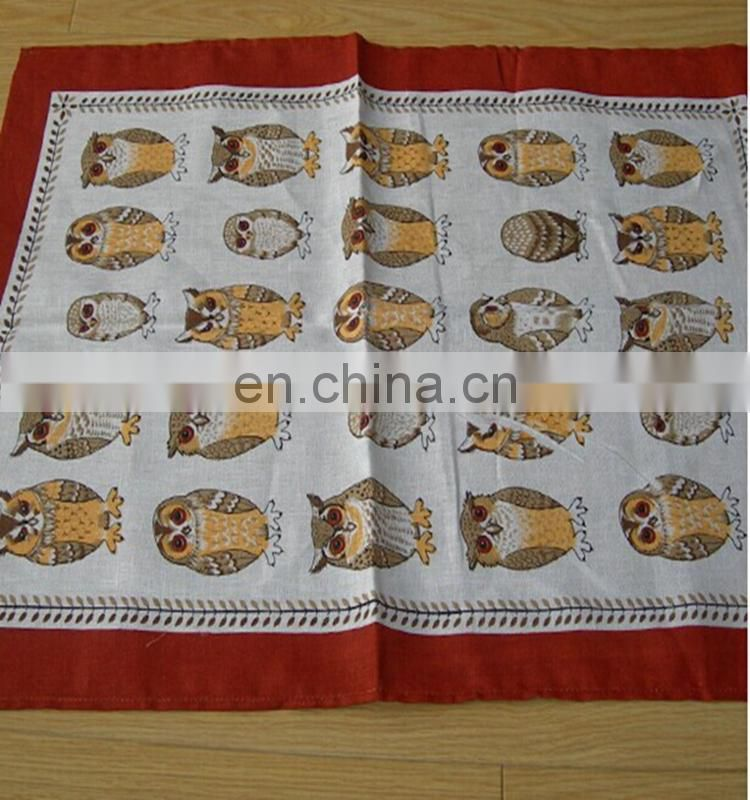 100% cotton plate scream printing /Owl printed towel