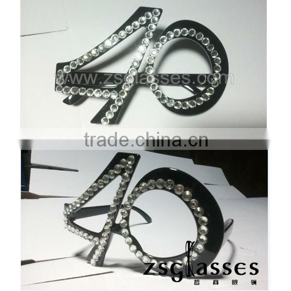 2012fashion new designer birthday diamond party sunglasses