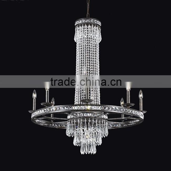 vintage essential oil pendant black tower chandelier with candle lights