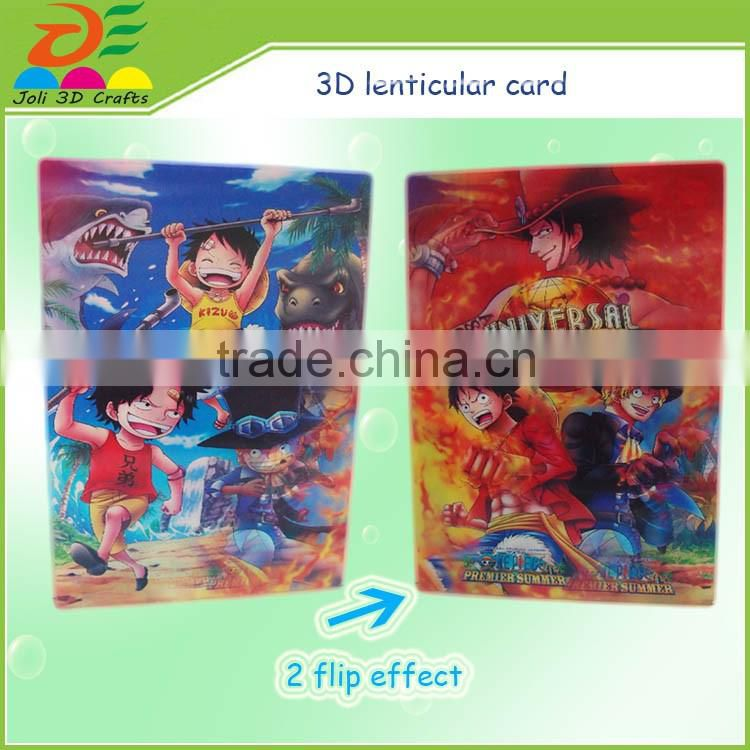 custom printing 3D lenticular card / 3D paper cards / hologram business cards