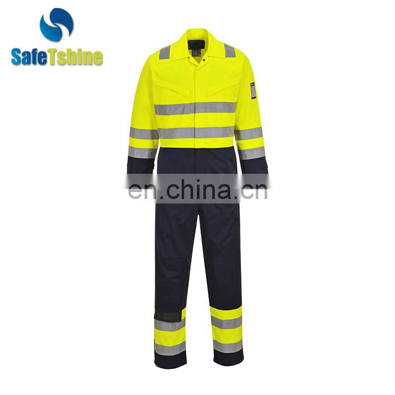 Flame Retardant Reflective Safety Workwear Coveralls For Men modacrylic