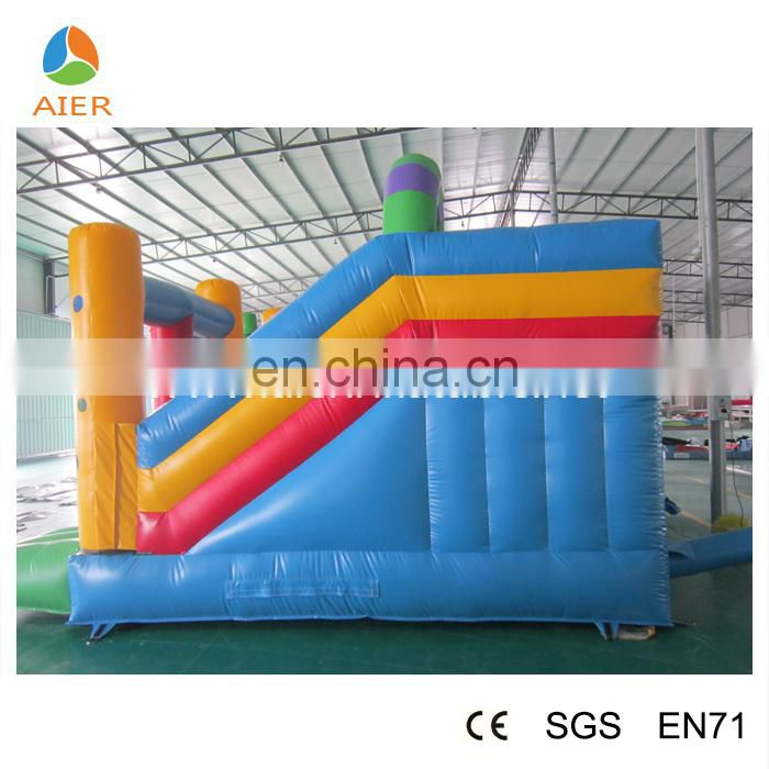 2015 inflatable clown bouncy castle with slide jumping castle for kids