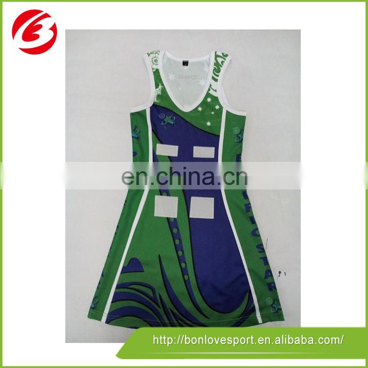 High quality sublimated netball uniforms custom design netball dresses