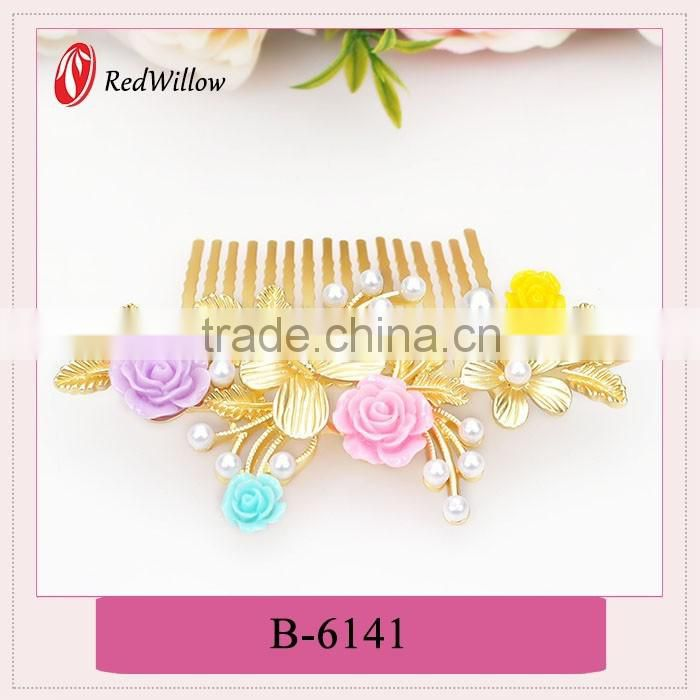 High qulity fashion alloy butterfly hair claw,hair claw clips with flower printing,peacock hair claws