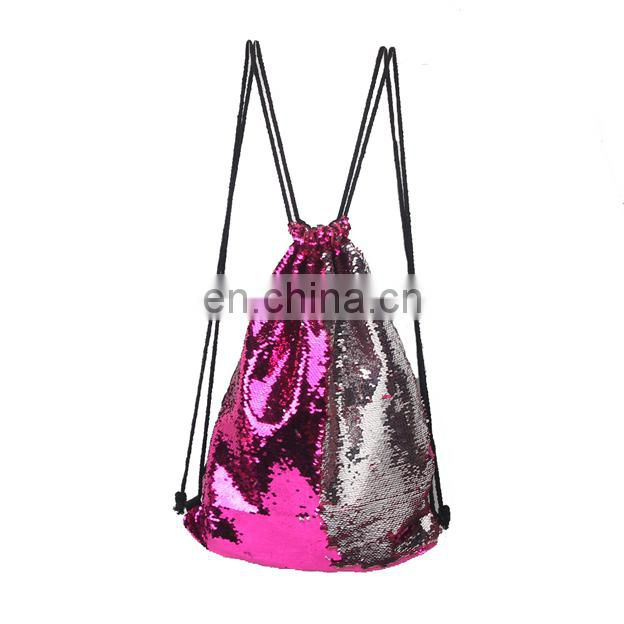 2017 New female glitter powder shoulder bag,simple style backpack ,outdoor travel bag