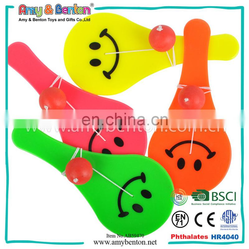 Hot Sale Promotional Kids Plastic Paddle Ball Toy
