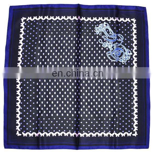 pocket checked square cotton scarf