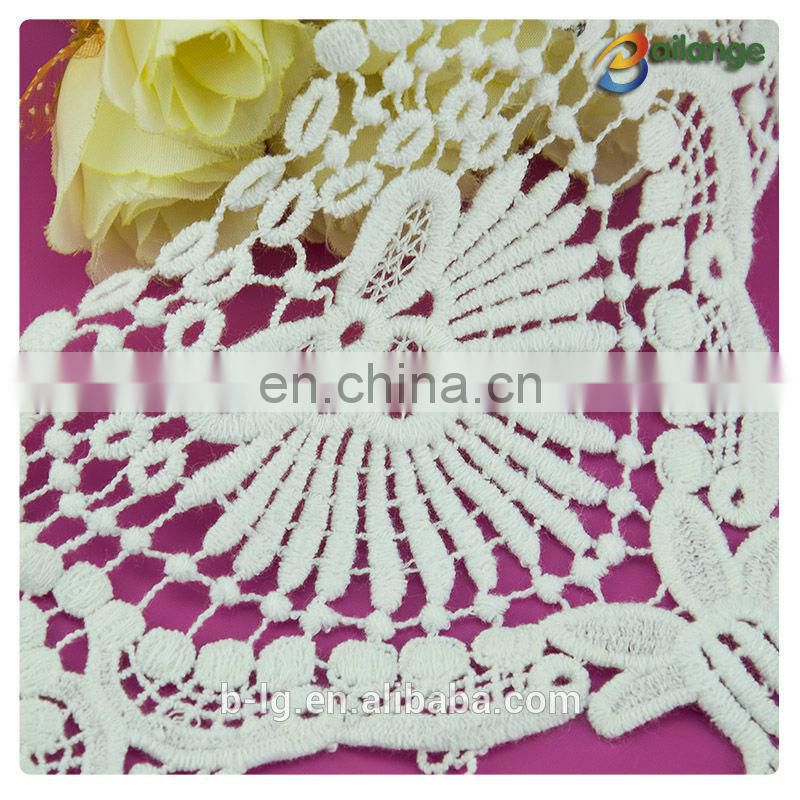 Bailange newest design white color 100% cotton white back neck design of suits