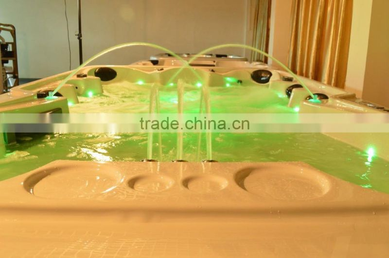 Luxury Outdoor hot swim pool for family massage type spa