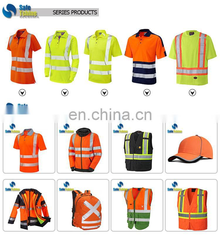 reflective safety clothes for men safety orange work wear tshirt
