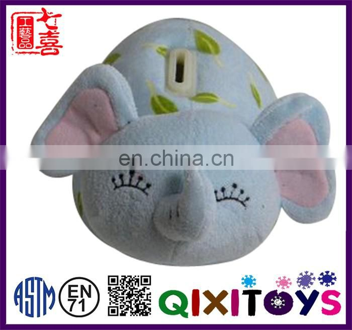 Wholesale custom elephant shaped plush piggy bank