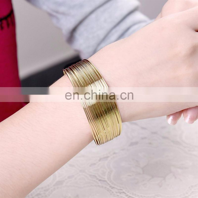 2017 New Jewelry Dubai Gold Bangles Design with Price
