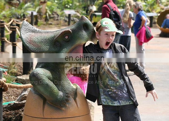 Outdoor Attractive High Simulation Fiberglass Dinosaur Egg Statue