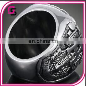 2015Hot selling big ring Cheap design national custom championship ring Stainless steel fashion ring