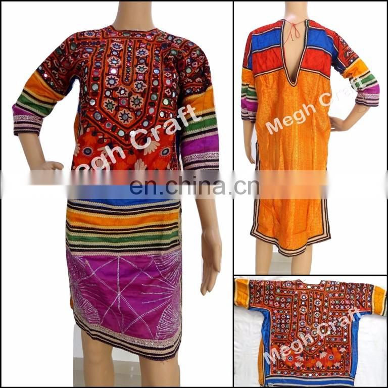 Afghan kuchi ethnic dress- vintage Kuchi Afghan Dress -Banjara Tribal Belly Dancing Costume Tunic Top