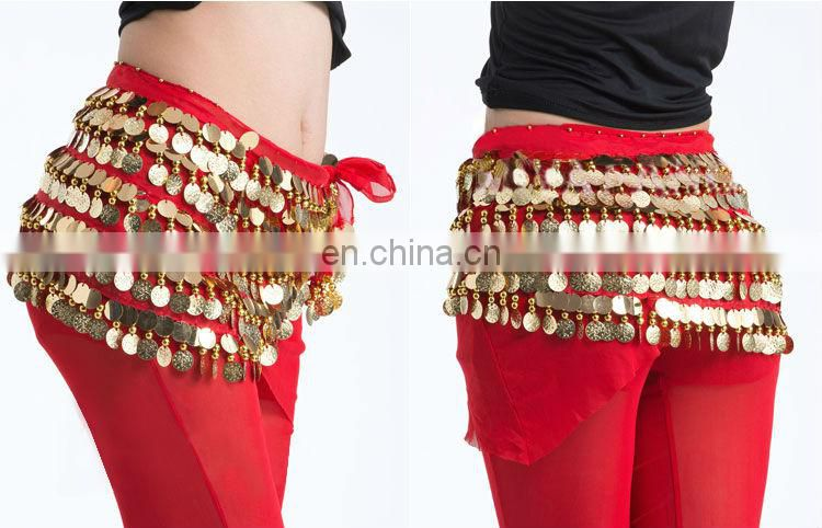 Full sequins Belly dance hip scarf Y-2036#