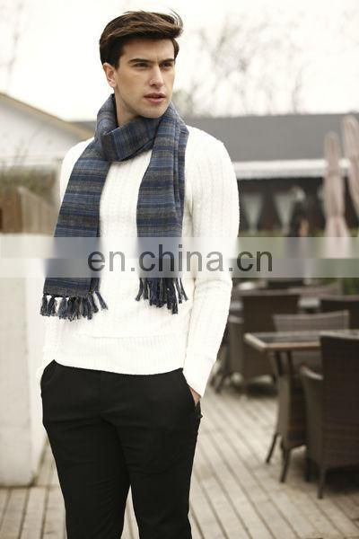 Autumn And Winter Warm Colorful Brushed Cotton Man Scarf