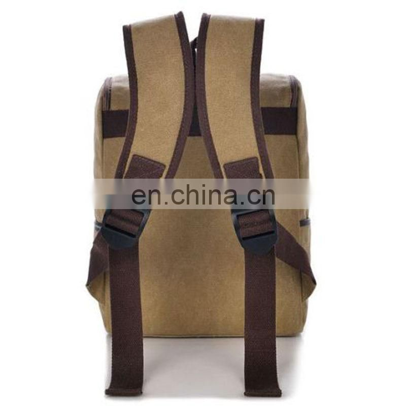 Fresh preppy style canvas backpack