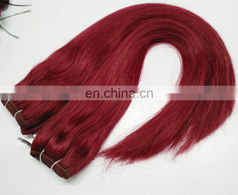 Hight Quality Products Hair Distributors USA 100% Human Hair Extensions Cheap Red Weave Hair
