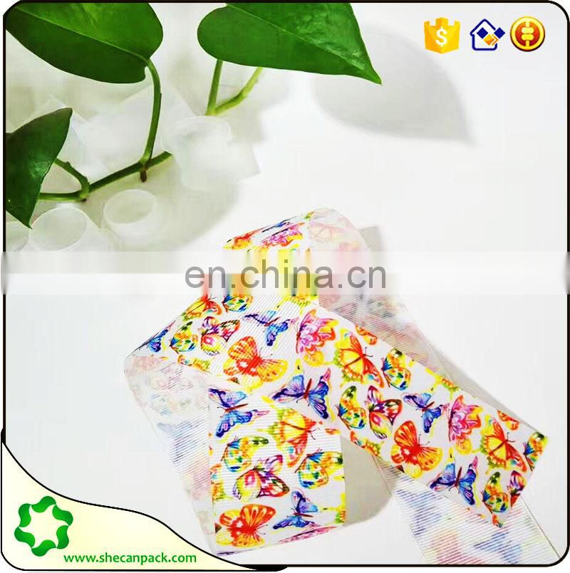 SHECAN Merry Xmas Printed Grosgrain Ribbon