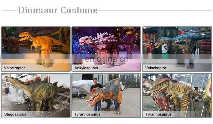 Barney dinosaur mascot costume for peple