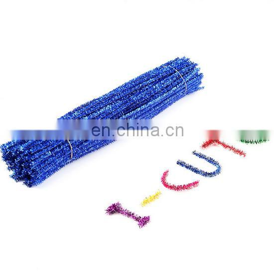 100pcs multicolor chenille mettalic pipe cleaner