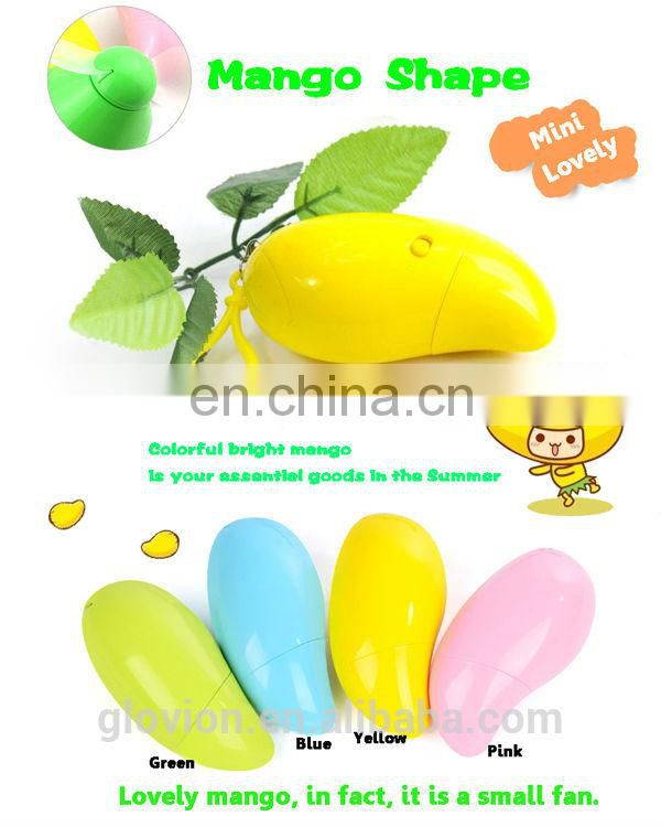 Hot sale 2014 Lovely mango shape battery operated exhaust fan
