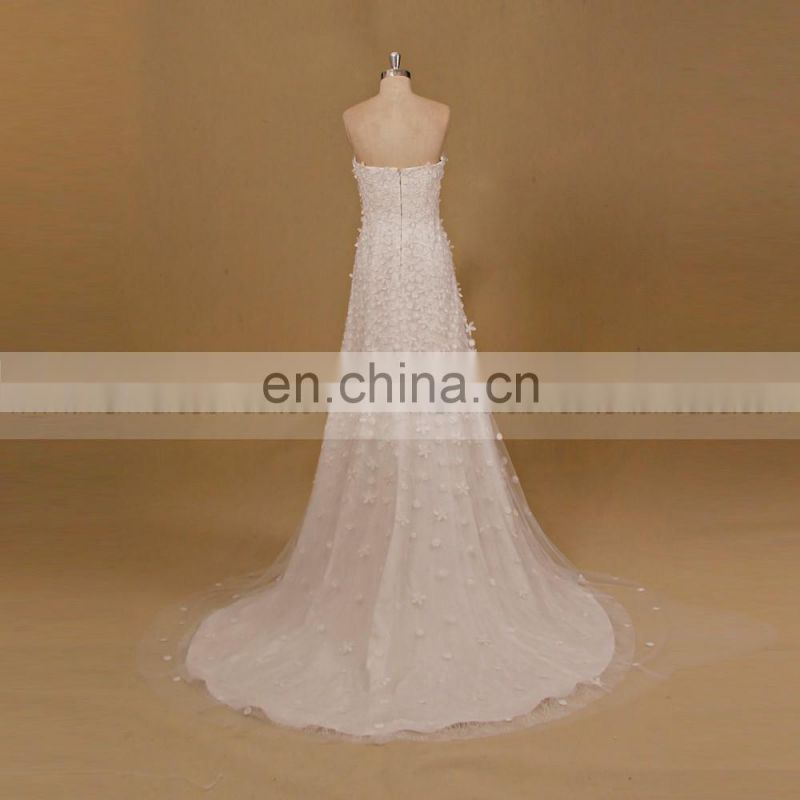 Refreshing Heart Shape Neckline Lace Sheath Inner Gown Removable Ball Gown Wedding Dress 2016