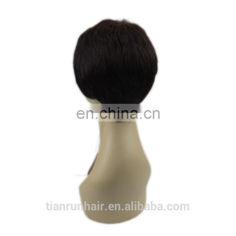 5A Virgin hair lace front wigs short afro kinky lace human hair wigs