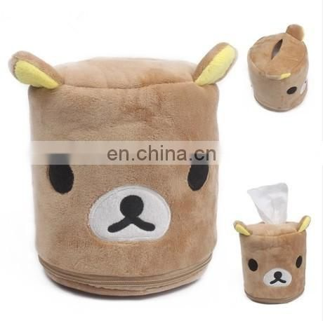 Cute Plush custom printed tissue box cute tissue paper box