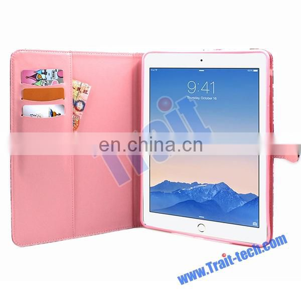 2015 Colored Drawing Wallet Style Case for iPad Air