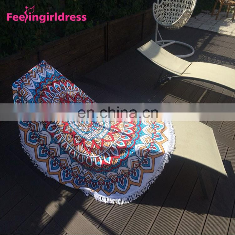 Wholesale Chinese High Quality Reactive Print Round Mandala Tapestry