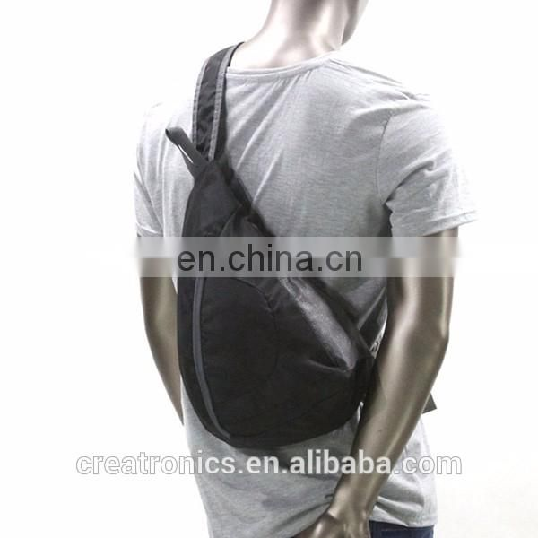 Nylon Outdoor Daily Cycling Sling One Strap Backpack For Unisex Chest Bag Pattern Shoulder Bag