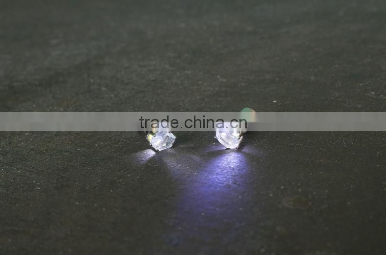 Multicolor Bright Stylish Fashion LED Earrings Glowing Diamond Crown Ear Drop Pendant Stud