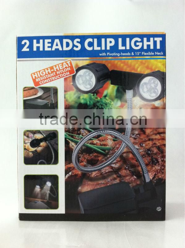 2 Heads Adjustable LED BBQ Grill Light with table lamp