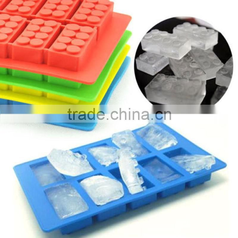 Rubber Ice Cube Mould Ice Tray Brick Shape Ice Blocks 10 Slots Ice Cream Tubs Fandont Chocolate Mold Bar Party Frozen Drink 1PC