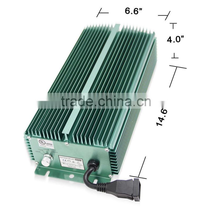 Grow Light HPS MH Lamp Quiet Line1000W Non Fan-cooled digital dimmable hid ballasts induction electronic ballast