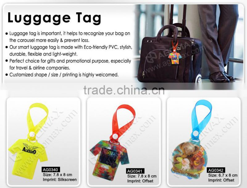 Private label welcome stylish airline plastic luggage tag