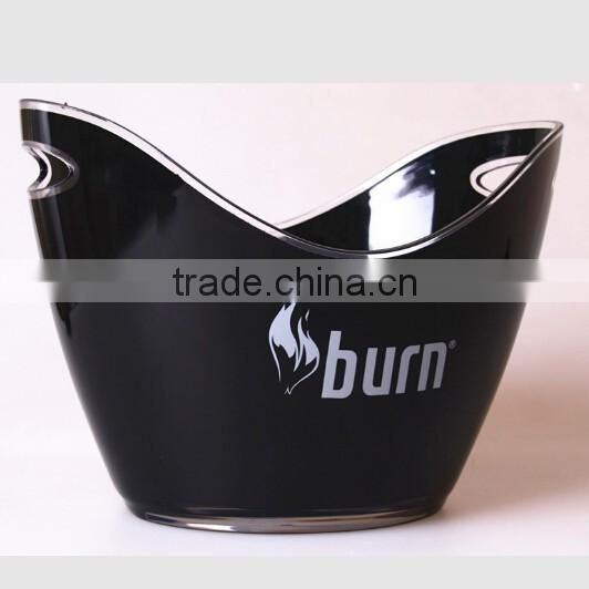 2017 good quality cheap price lighting logo plastic bucket of beer