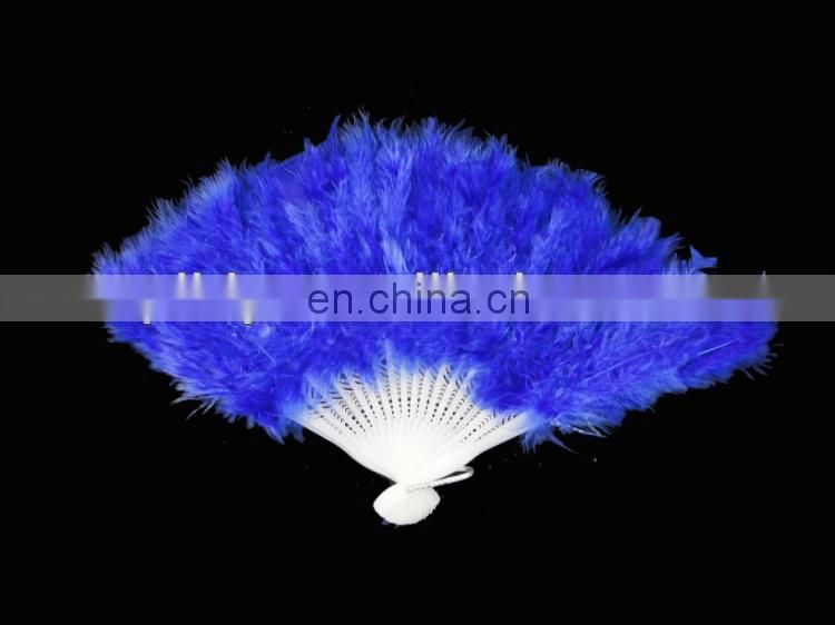 wholesale blue feather dacing fans