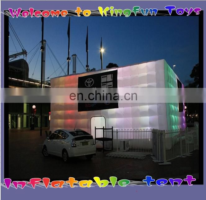 Temporary inflatable kiosk/sales air pavilion