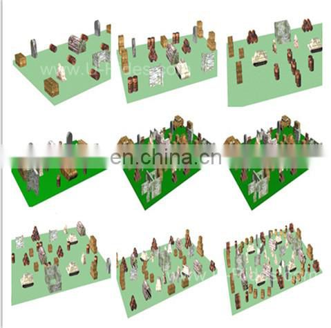 Tactical Field(3Man)/ inflatable paintball field for shooting game