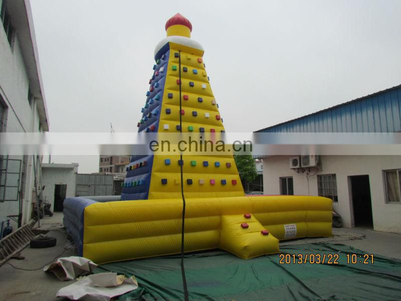 Rockwall climbing mountain/ Hot seller inflatable climbing wall from TOP/exciting outdoor sport games