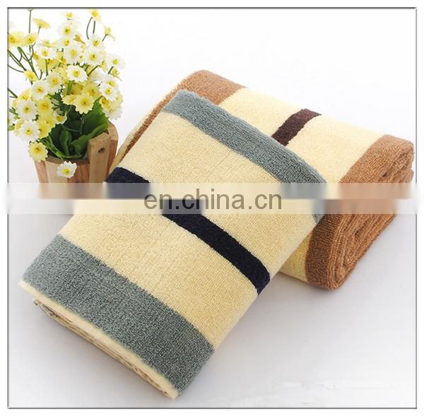 New Design Custom Strip Cotton Bath Towel With Logo