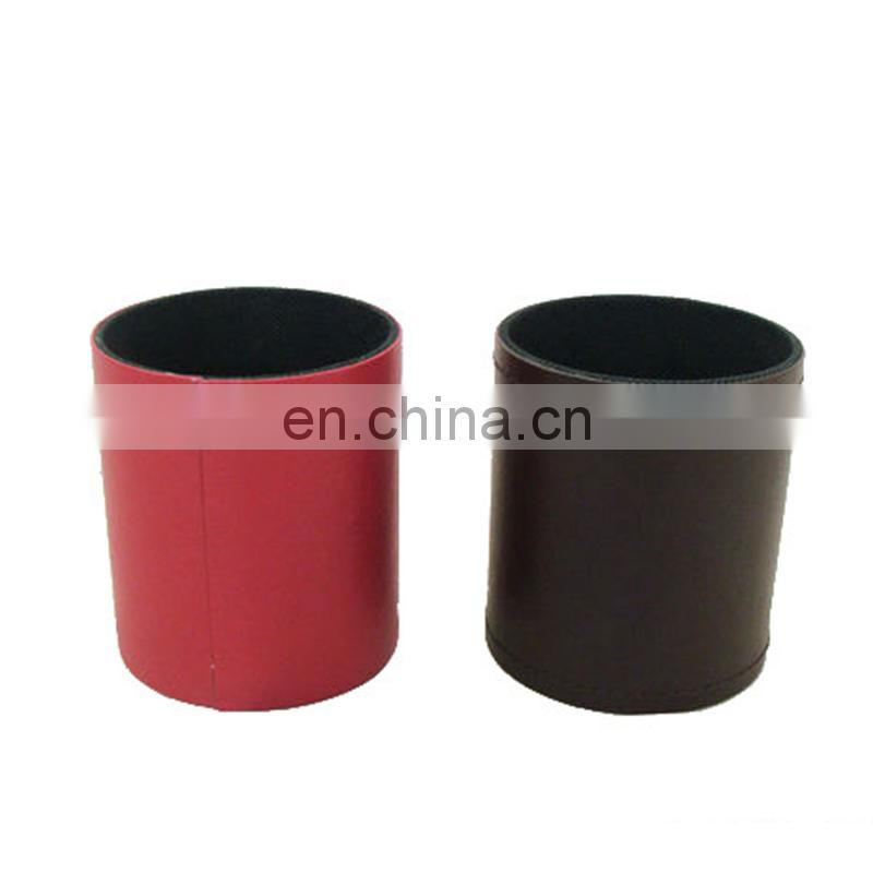Factory custom fashion acrylic leather waste bin pu garbage contanier acrylic pu waste bin