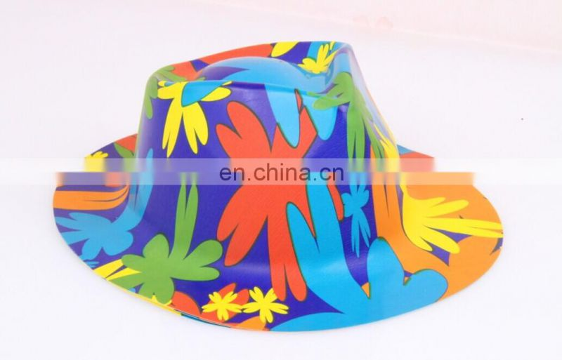 Colorful Happy Birthday Plastic Hats For Adults