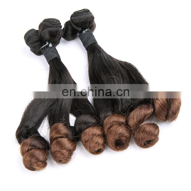 The best Mix Color Princess Curl Double Drawn Virgin Remy Brazilian Human Hair Weavon