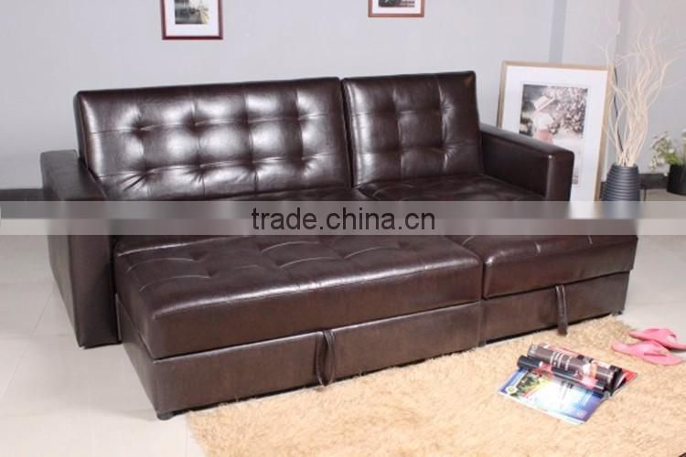New Design Fabric Corner Sofa Bed Sleeper Furniture With Storage